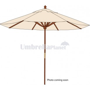 Branded Market Umbrella 3.5m Canvas