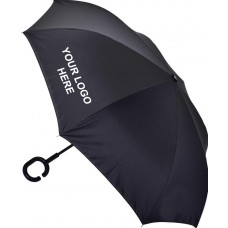 Personalised Inverted Umbrellas Secure Handle