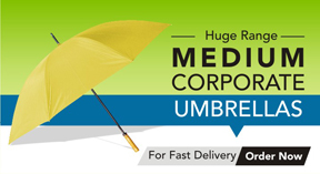 medium branded umbrellas